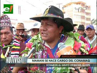 Hilarión Mamani es líder del Conamaq