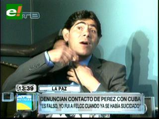 Pérez dice que no fue a Felcc la noche en que murió Cuba