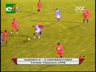 Aurora empata con Universitario en el debut