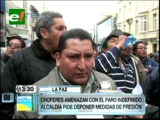 Choferes paceños anuncian paro indefinido contra el Pumakatari
