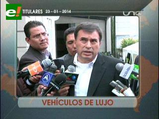Quintana confirma compra de caravana de autos blindados para seguridad de Evo Morales