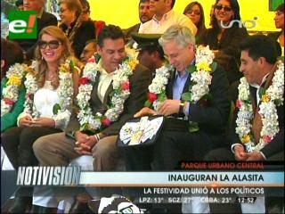 El Ekeko y las necesidades de La Paz juntan al Vicepresidente y el Alcalde en Alasita
