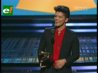 Bruno Mars se llevó el premio a Mejor Álbum Pop en los Grammys