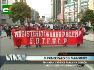 Maestros de La Paz convocan a una movilización para este miércoles