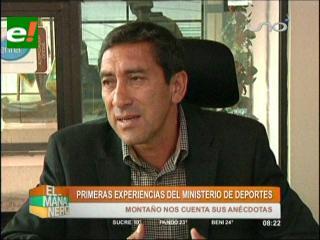 Tito Montaño: Ministerio de Deportes no será un almacén de artículos deportivos
