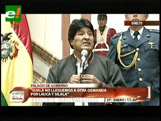 Evo a Chile: Ojalá no lleguemos a otra demanda por el Silala y el Lauca