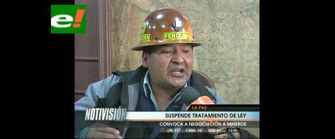 Cooperativistas deciden masificar protestas pese a suspensión de tratamiento de la Ley de Minería