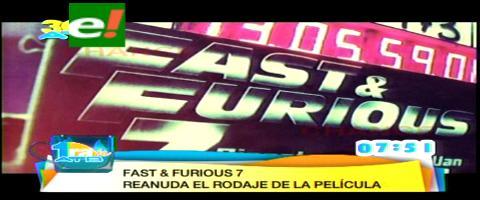 """Continúa el rodaje de """"Rápido y Furioso 7"""" en Abu Dhabi"""