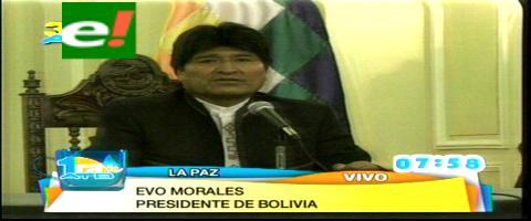 Tema mar: Evo anuncia que Bolivia adelantará la presentación de la memoria ante La Haya