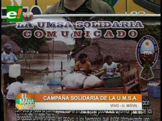UMSA en campaña para los damnificados en La Paz