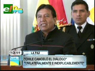 Cancilleres de Bolivia y Chile cruzan acusaciones por congelamiento del diálogo por el mar