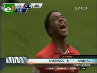 Arsenal cayó por goleada ante el Liverpool y resignó el liderazgo