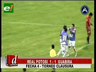 Guabirá le amargó la tarde a Real Potosí al empatar 1-1