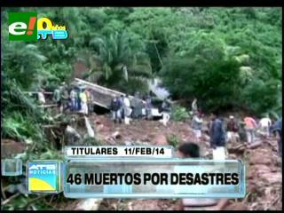 Titulares: 46 muertos por las lluvias