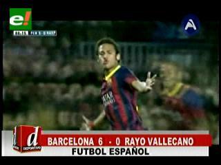Barcelona aplastó a Rayo Vallecano con un 6 a 0 y se afianza como líder de la Liga