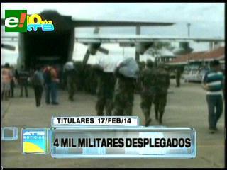Titulares: Despliegan a más de 4 mil militares para socorrer a los damnificados por las lluvias