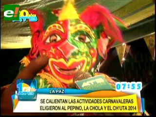 Cholita, Pepino y Ch'uta 2014 quieren rescatar añejas fiestas