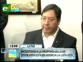 """Arce: """"Lista Azul"""" obliga a bancos a otorgar beneficios a prestatarios cumplidos"""