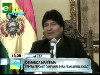 Morales asegura que en Chile se generó un sentimiento a favor del acceso al mar con soberanía
