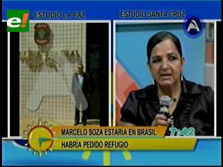 Autoridades bolivianas habrían acompañado a Soza a pedir asilo político a Brasil