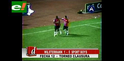 Wilster vuelve al triunfo al derrotar 1-0 a Sport Boys