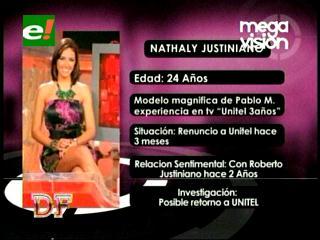 Nataly Justiniano podría regresar a  Unitel