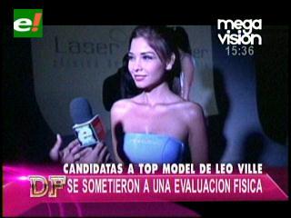 Candidatas a  Top Model de Leo Ville tuvieron su  evaluación física