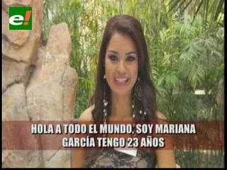 Mariana García se presenta oficialmente en el Miss Mundo 2012
