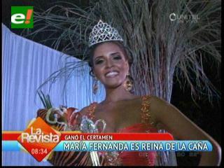 La Reina Nacional de la Caña es María Fernanda Rojas