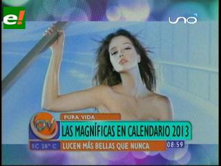 Bellas magníficas en calendario 2013