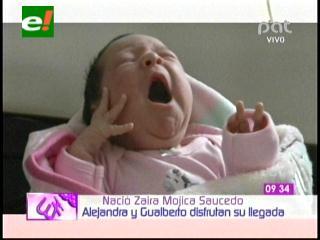 Nació Zaira, la hija de Alejandra Saucedo y Gualberto Mojica