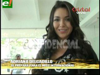 Adriana Delgadillo preparada para el Miss Internacional 2013