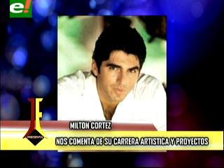 Milton Cortez llegó a Santa Cruz para grabar nuevo videoclip