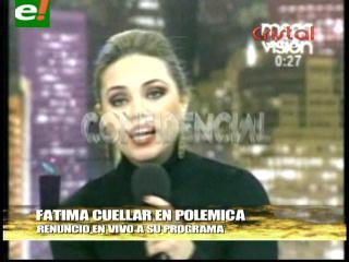 Fátima Cuéllar renunció en vivo al programa Irreverentes