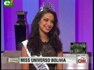 """Alexia Viruez a CNN: """"Es muy importante que como embajadoras de la belleza promovamos campañas contra el maltrato a la mujer"""""""