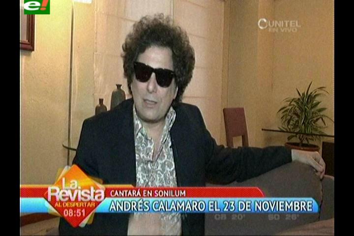 Andrés Calamaro llegará «Bohemio» a Santa Cruz