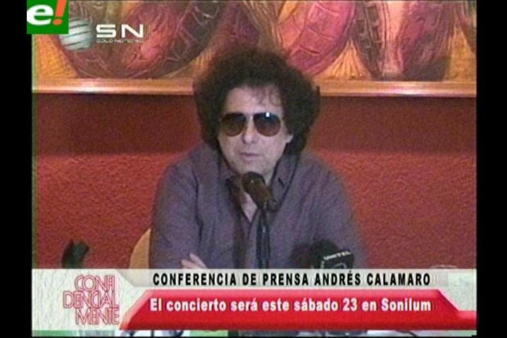 """Andrés Calamaro: """"Siempre queremos dar el mejor concierto"""""""