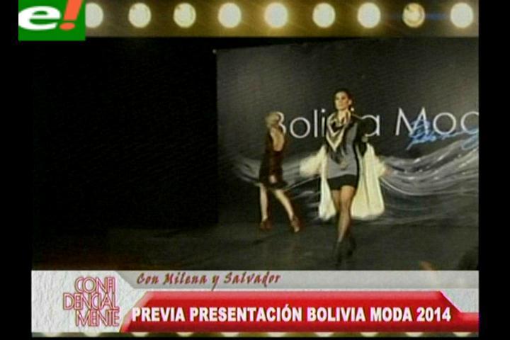 El desfile previo del Bolivia Moda 2014