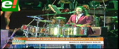Éxito rotundo el concierto de Marco Antonio Solís en Santa Cruz
