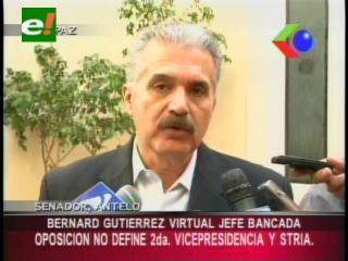 Senador Antelo: «Es posible que Bernardo Gutiérrez sea el nuevo jefe de bancada en el Senado»