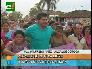 Alcalde Wilfredo «Coco» Añez fue recibido por una multitud de cotoqueños
