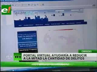 Un portal ayudaría a reducir a la mitad la criminalidad en Caracas, Venezuela