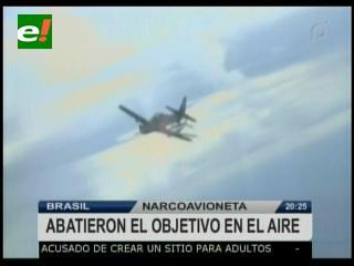 Fuerza Aérea Brasileña derriba a una narco avioneta