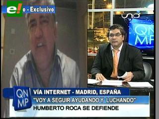 """Roca: """"En una investigación voy a demostrarle al pueblo boliviano lo que es realmente el Vicepresidente"""""""