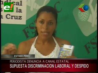 Periodista denuncia a Bolivia Tv por discriminación laboral