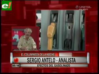 Sergio Antelo: «El Gasolinazo en realidad es un impuestazo para cubrir el déficit estatal»