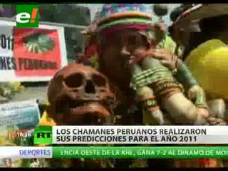 Chamanes peruanos realizaron su tradicional ritual de fin de año