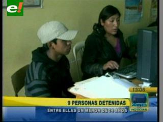 9 detenidos en El Alto acusados de destrozar los peajes de Vías Bolivia