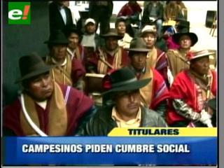 Confederación de Campesinos pide al Gobierno realizar Cumbre de Movimientos Sociales