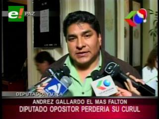 Andrés Gallardo es el parlamentario más faltón, podría perder su curul